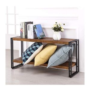 FIVEGIVEN 2 Shelf Bookcase Small Display Book Shelf Rustic Industrial, Brown for Sale in Los Angeles, CA