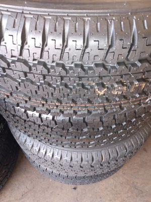 Set of 4 tires - 245/70/16-Bridgestone 95% of life for Sale in Fullerton, CA