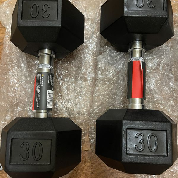 PRCTZ 30 lbs dumbbell set new never used