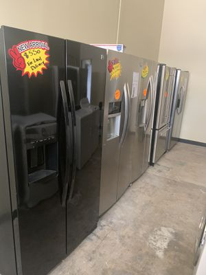 SIDE BY SIDE FRIDGES FOR SALE STARTING @ $550 & UP👆 FREE LOCAL DELIVERY for Sale in Corona, CA