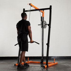 Power Rack, with upper/lower cables, 200 lbs plates, bars for Sale in Elk Grove, CA