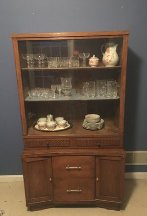 Glass and wood hutch for Sale in Carlisle, PA