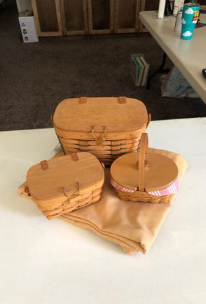 Longaberger Baskets for Sale in Winchester, CA
