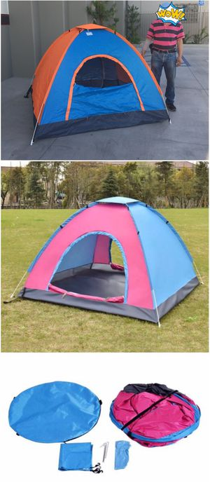 New in box 2 to 3 person 78x78x53 inches outdoor beach camping tent with privacy screen ez pop up design waterproof includes carrying bag for Sale in Los Angeles, CA