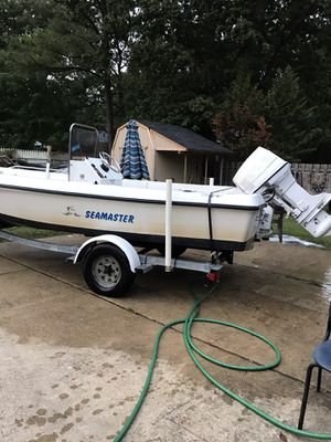 93 sea master Center console 17feet 70hp Johnson outboard boat for Sale in Fort Washington, MD