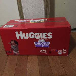 HUGGIES SIZE 6 88 pañales for Sale in Compton, CA