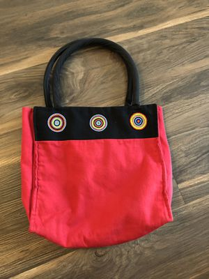 Red and black beaded tote bag for Sale in Los Angeles, CA