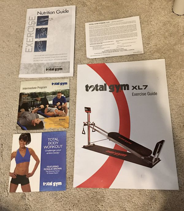 Total Gym XL7 Home Gym with Workout DVDs (like new)