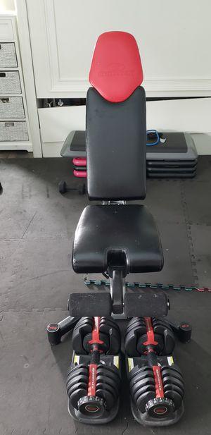 Bowflex adjustable dumbbells and adjustable bench for Sale in Coral Springs, FL