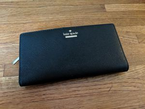 NEW Kate Spade New York Solid Black Cameron Street Stacy Wallet for Sale in Oakland, CA