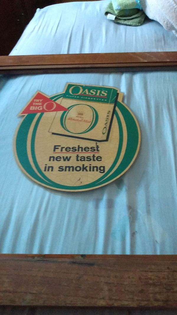 Oasis cigarette advertisement