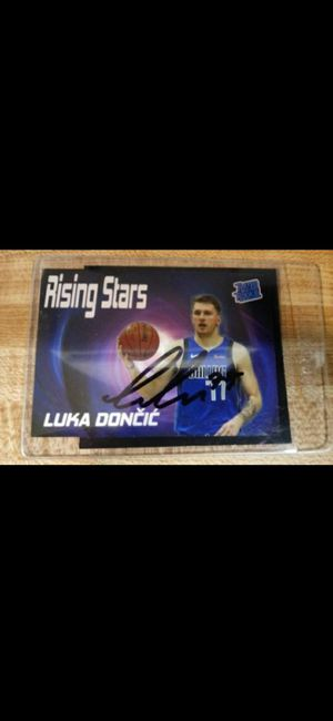 Luka Doncic Certified signed Rookie Mint Promo Card With COA $200 Pick Up $210 Shipped through cash app or pay pal for Sale in Claremont, CA