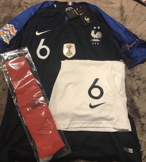 French Home # 6 Pogba men's kit jersey for Sale in Washington, DC