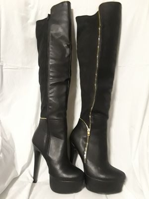 Women's High Thigh Black Boots for Sale in Watauga, TX