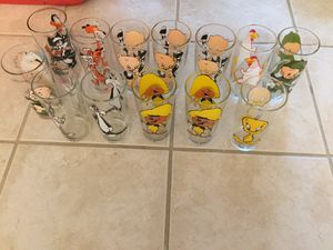 13 collectible Werner Bro's cartoon character Glasses for Sale in Port Charlotte, FL