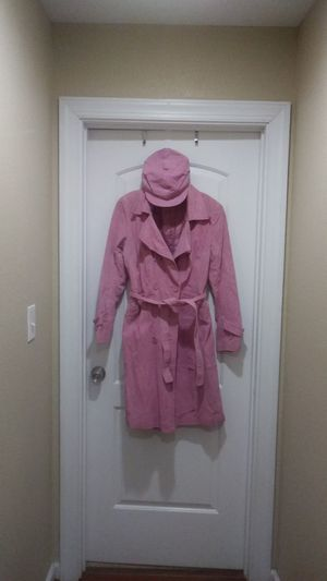 Pink suede coat with matching hat for Sale in Norfolk, VA