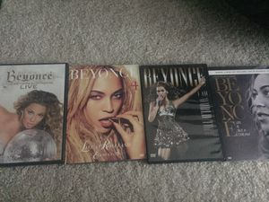 Set of 4 Beyonce DVD's for Sale in Charlotte, NC