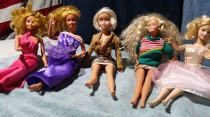 Collectible items five Barbies 1966 you can get all five of them today for low low price of $20.00dollars for Sale in Columbus, OH