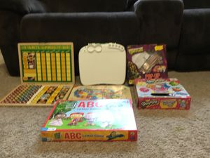 Chore chart Melissa and Doug, games super why, turtles, shopkins, crayola for Sale in Houston, TX