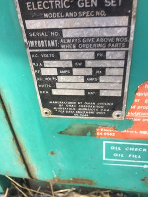 Onan generator works great for Sale in Altadena, CA