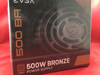 EVGA 500 BR 500w Power Supply 80 Plus Bronze for Sale in Kent,  WA