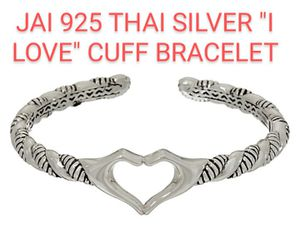 "925 Silver 'I love"" cuff bracelet. Heart Hands for Sale in Federal Way, WA"