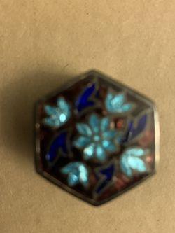 Small Silver & Turquoise Trinket Box for Sale in Santa Monica,  CA