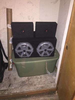 """2 """"10"""" inch subwoofers, 2 """"15"""" subwoofers, & 2 6x9 for Sale in San Francisco, CA"""