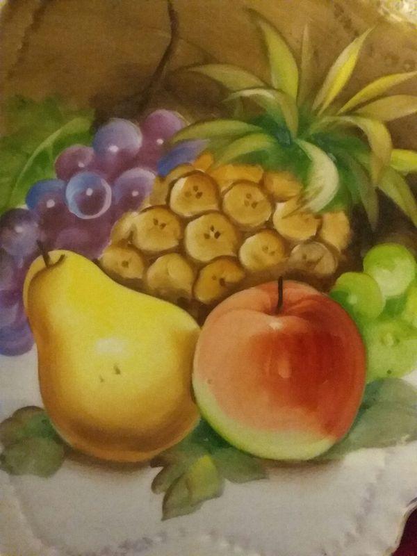 Lefton China Decorative Fruit Plate