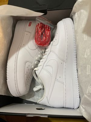 Supreme Air Force 1 White Size 9 for Sale in Montebello, CA