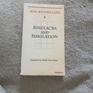 Simulacra And Simulation Jean Baudrillard Translated By Sheila Faria Glaser for Sale in San Diego, CA