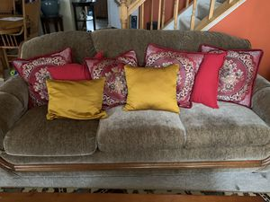 2 couch set throw pillows included for Sale in Sterling, VA
