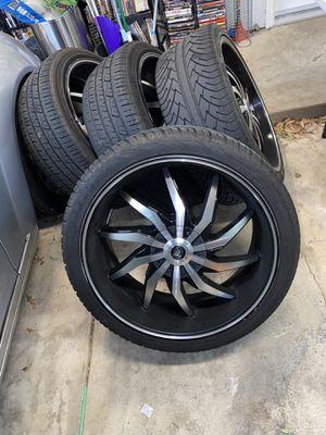 22s rims tires 5 lugs universal Vonmax rims for Sale in Sacramento, CA