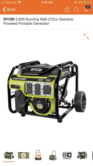 Ryobi generator for Sale in Philadelphia, PA