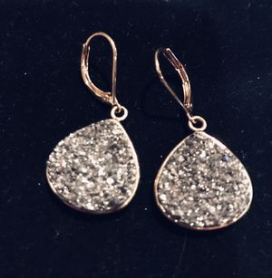 Diamond crush lever back earrings for Sale in Silver Spring, MD