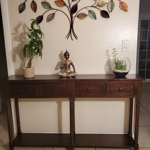 2-drawer Console Table and Bottom Shelf for Sale in Anaheim, CA