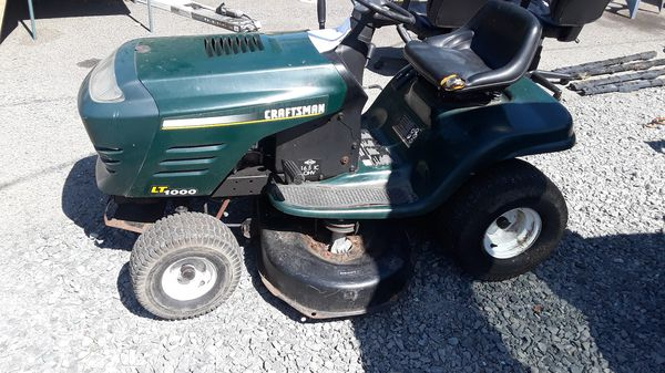 Craftsman Lt1000 Riding Mower >> Craftsman Lt1000 Riding Mower For Sale In Tacoma Wa Offerup