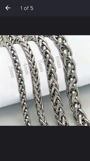 Men's stainless steel chain silver size 10 inches for Sale in Moreno Valley, CA