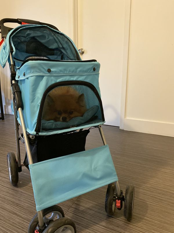 Outdoor Pet Cart Breathable Dog Carrier Bag Pet Stroller 360 Rotating Wheel Pet Carrier Strollers Pet Supplies