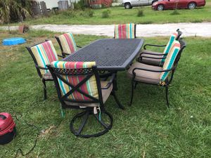 Seven piece aluminum patio set nice condition for Sale in Winter Park, FL