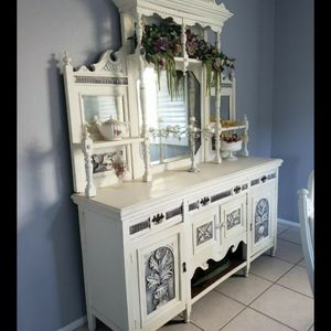 Antique Shabby Chic Hutch / Sideboard / Buffet / China Cabinet for Sale in Riverside, CA
