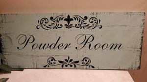 Shabby chic Powder Room Sign for Sale in San Jose, CA