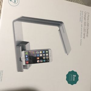 2 ports usb desktop charger with led lamp for Sale in Rockville, MD