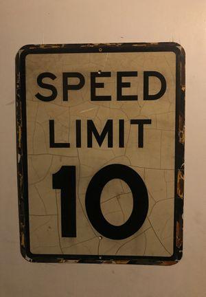 Room decor speed limit sign for Sale in Denver, CO