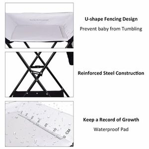Baby Storage Folding Diaper Changing Table-Black for Sale in Brea, CA