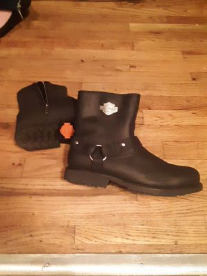Harley Davidson brand new boots never worn. Size 10.5 they run big. for Sale in Seattle, WA