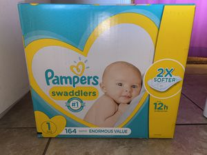Pampers Swaddlers Size 1 Diapers 164 for Sale in Anaheim, CA