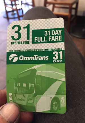31 day bus pass I'm at haven and foothill for Sale in Rancho Cucamonga, CA