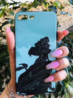 Brand new cool iphone 7+ or 8+ PLUS case cover rubber little mermaid Ariel princess cute pretty girls womens disneyland disney for Sale in San Bernardino, CA