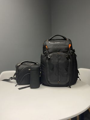 Pro Camers bags | Sony Alpha Backpack | Fancier Sling bag | Fotodiox lens pouch for Sale in Dearborn, MI